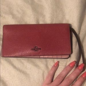 Red coach wallet